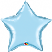 "Pearl Blue Mini Foil Balloon (4"" Star Air-Fill) 1pc"
